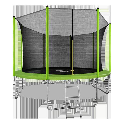 Батут ARLAND 12FT с внутренней страховочной сеткой и лестницей (Light green) (СВЕТЛО-ЗЕЛЕНЫЙ)