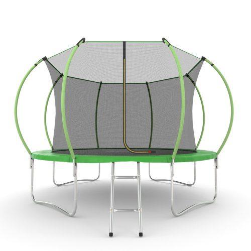 Батут EVO JUMP Internal 12ft (Green) с внутренней сеткой и лестницей, диаметр 12ft (зеленый)
