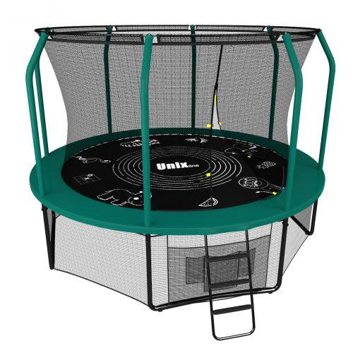 Батут Unix line Supreme Game 10 футов цвет зеленый, 305 см