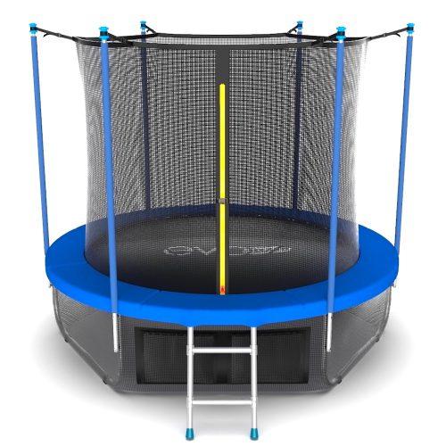 Батут EVO JUMP Internal 12 футов с внутренней сеткой и лестницей цвет синий, 366 см