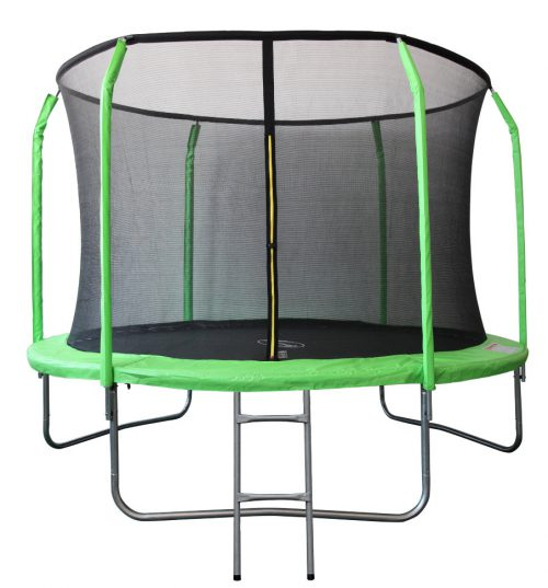 Батут Sport Elite 12 футов фиберглас с внутренней сеткой и лестницей цвет салатовый, 366 см